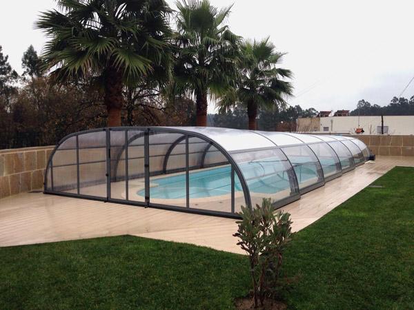 Abris piscine mi-haut Madeira Line